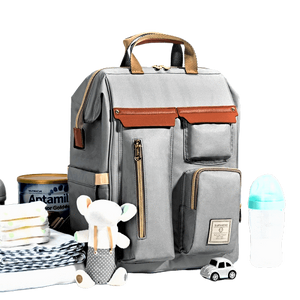 Baby diaper bag with baby esssentials