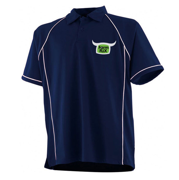 Embroidered Navy FarmFLiX Polo Shirt (Adult)