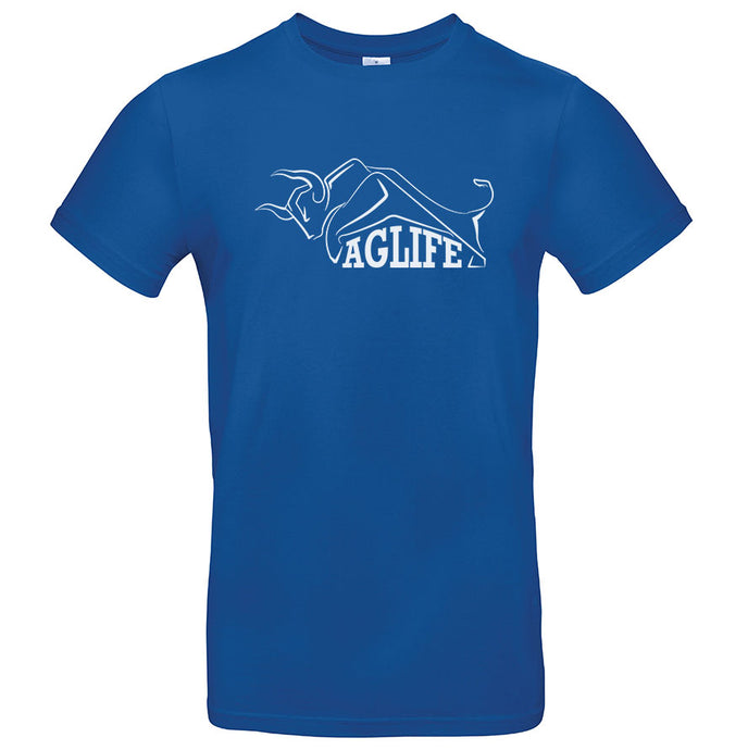 Printed Royal Blue AgLife T-Shirt (Adult)