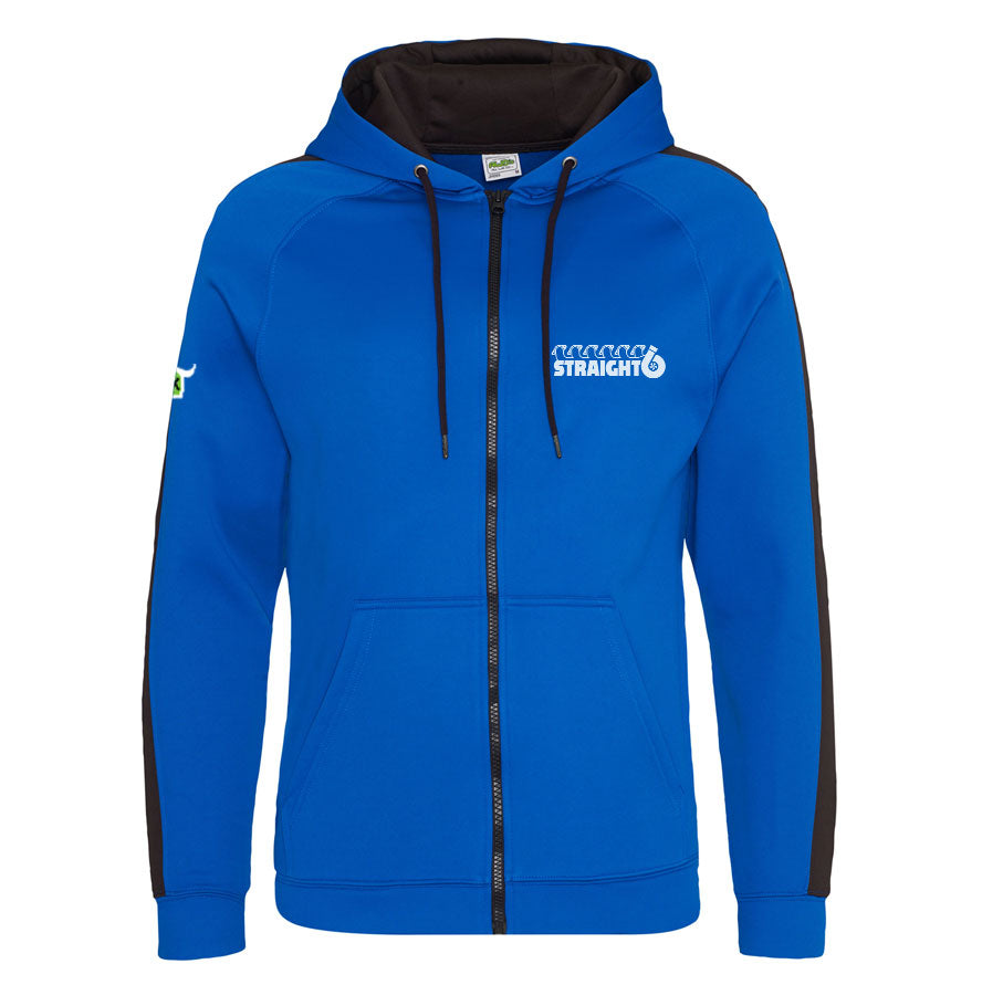 Embroidered Royal Blue Straight6 Zoodie (Adult) (Neat fitting - if in doubt go up a size)