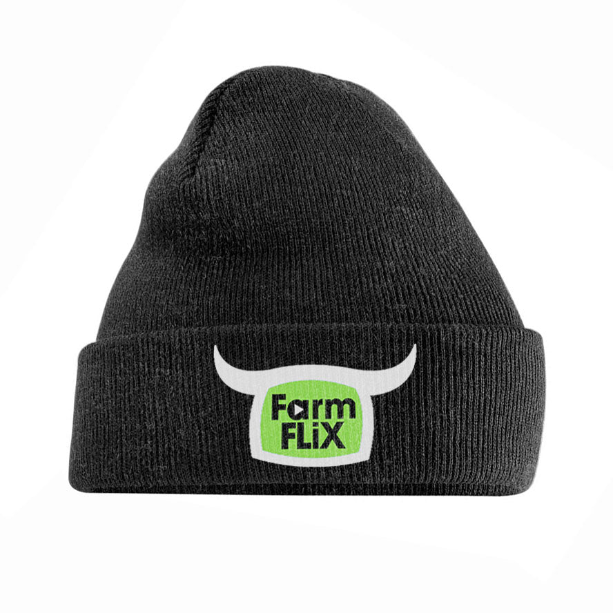 Embroidered Charcoal Grey FarmFLiX Beanie - #SupportAlan