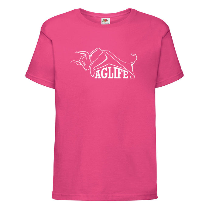 Printed Fuchsia AgLife T-Shirt (Kids)