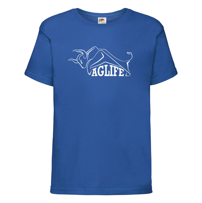 Printed Royal Blue AgLife T-Shirt (Kids)