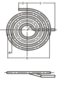 "Flat Spiral Coil 3/4"" OD x .049 Wall Stainless Steel"