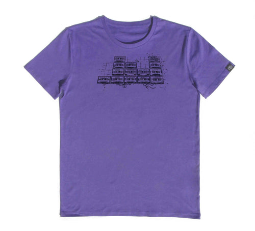 SOUND Clothing-organic-cotton-purple-t-shirt-festival-music-producer-clothing