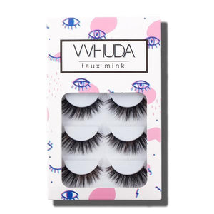 Pack of 5 VVHUDA Super Soft False Lashes - Monique