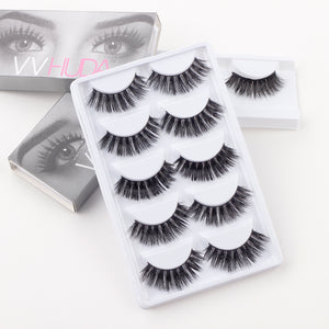 Pack of 5 VVHUDA False Lashes - Sophia