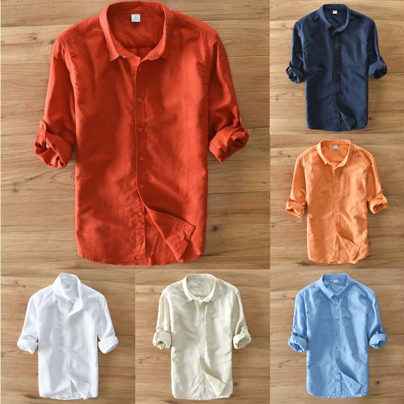 Casual long sleeved over head shirt in multiple colours.