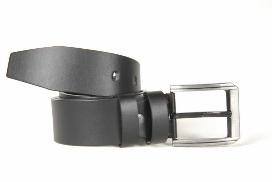 Plain Black Artificial Leather Belt