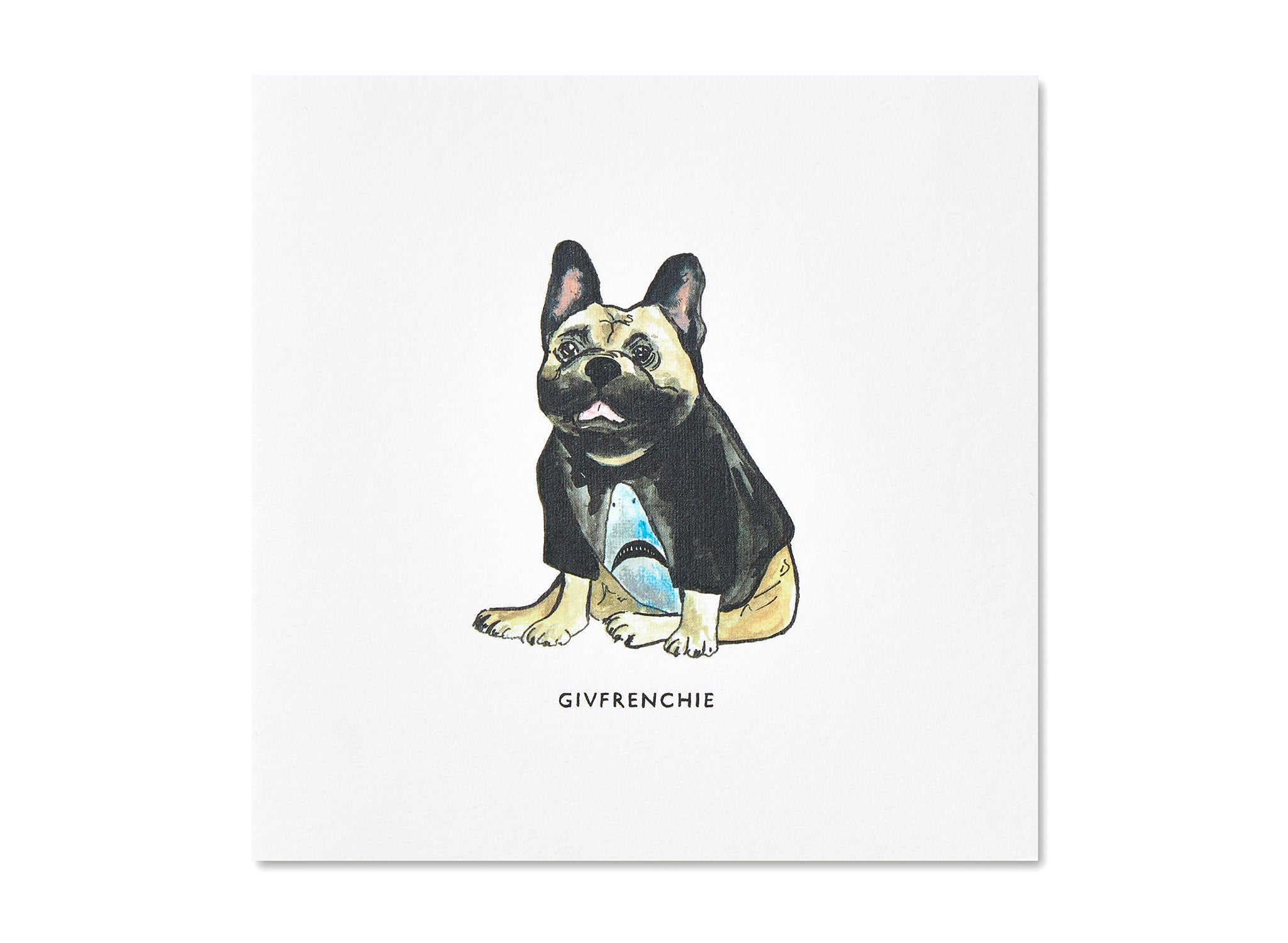 Jo Laing - Givenchy Dogs in Vogue Greeting Card - luxury stationery made in England