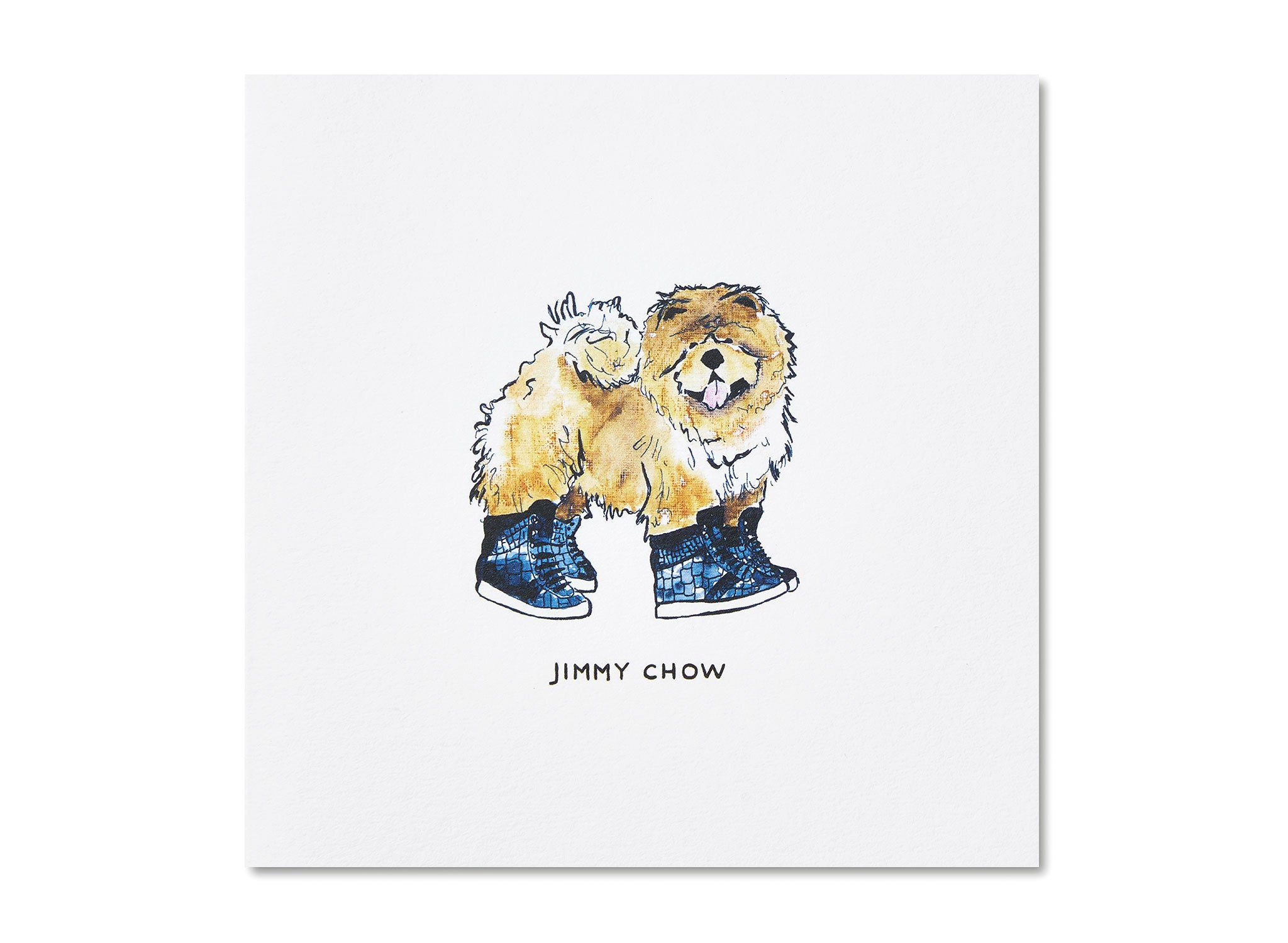 Jo Laing - Jimmy Chow Dogs In Vogue Greeting Card - luxury stationery made in England