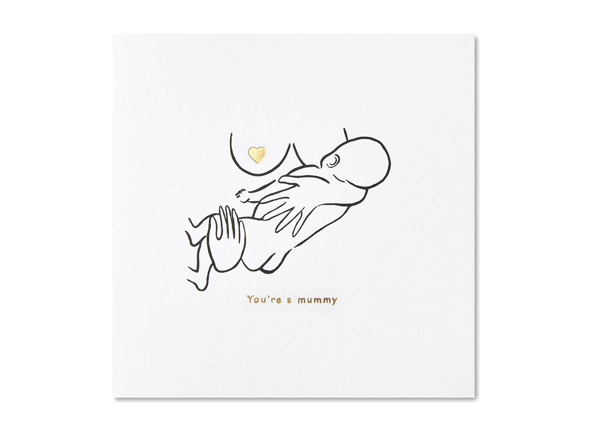 Jo Laing - New Mummy Greeting Card - luxury stationery made in England