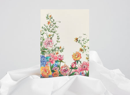 Jo Laing - Everyday Blooms Greeting Card - luxury stationery made in England