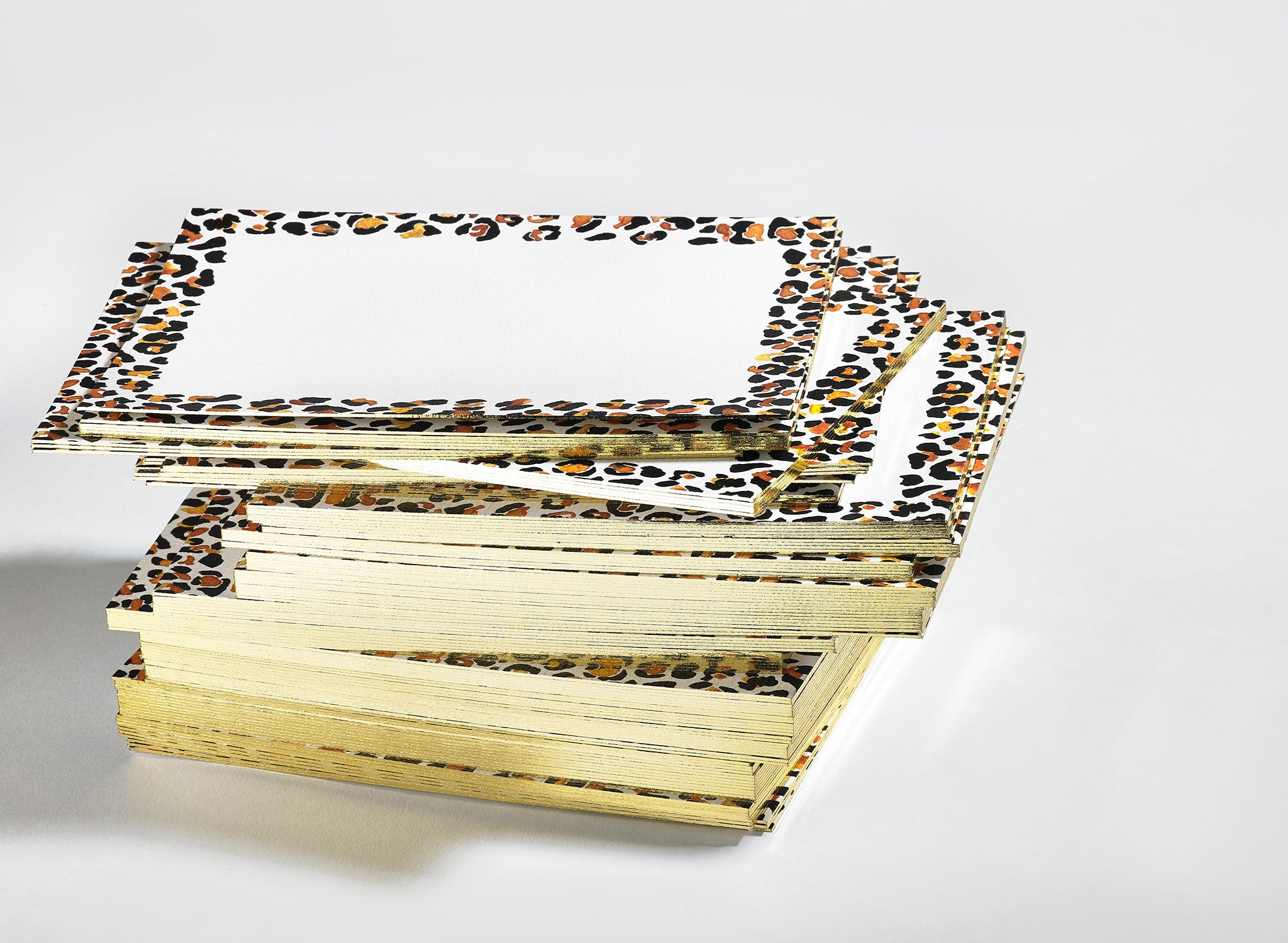 Jo Laing - Gilded Leopard Correspondence Cards - luxury stationery and notecards made in England
