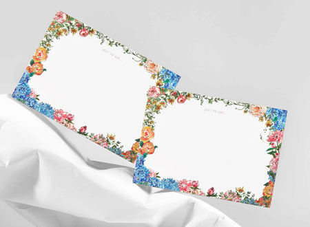 Summer Blooms Correspondence Cards