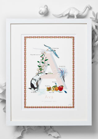 'A is For' Alphabet Nursery Art Print