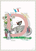 'D is For' Nursery Art Print - French Collection