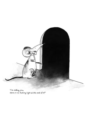 'The Despondent Mouse' Art Print