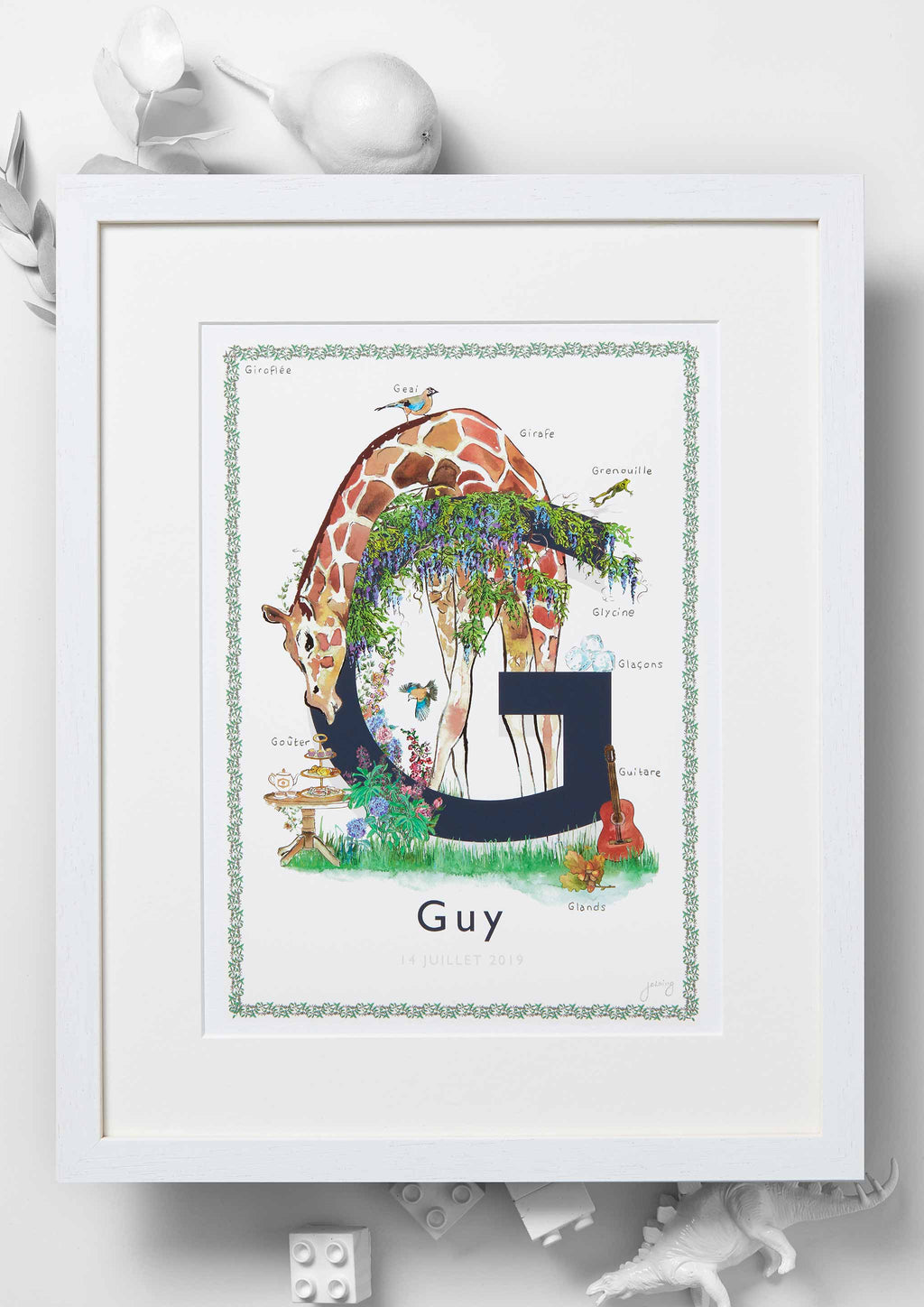 'G is For' Nursery Art Print - French Collection