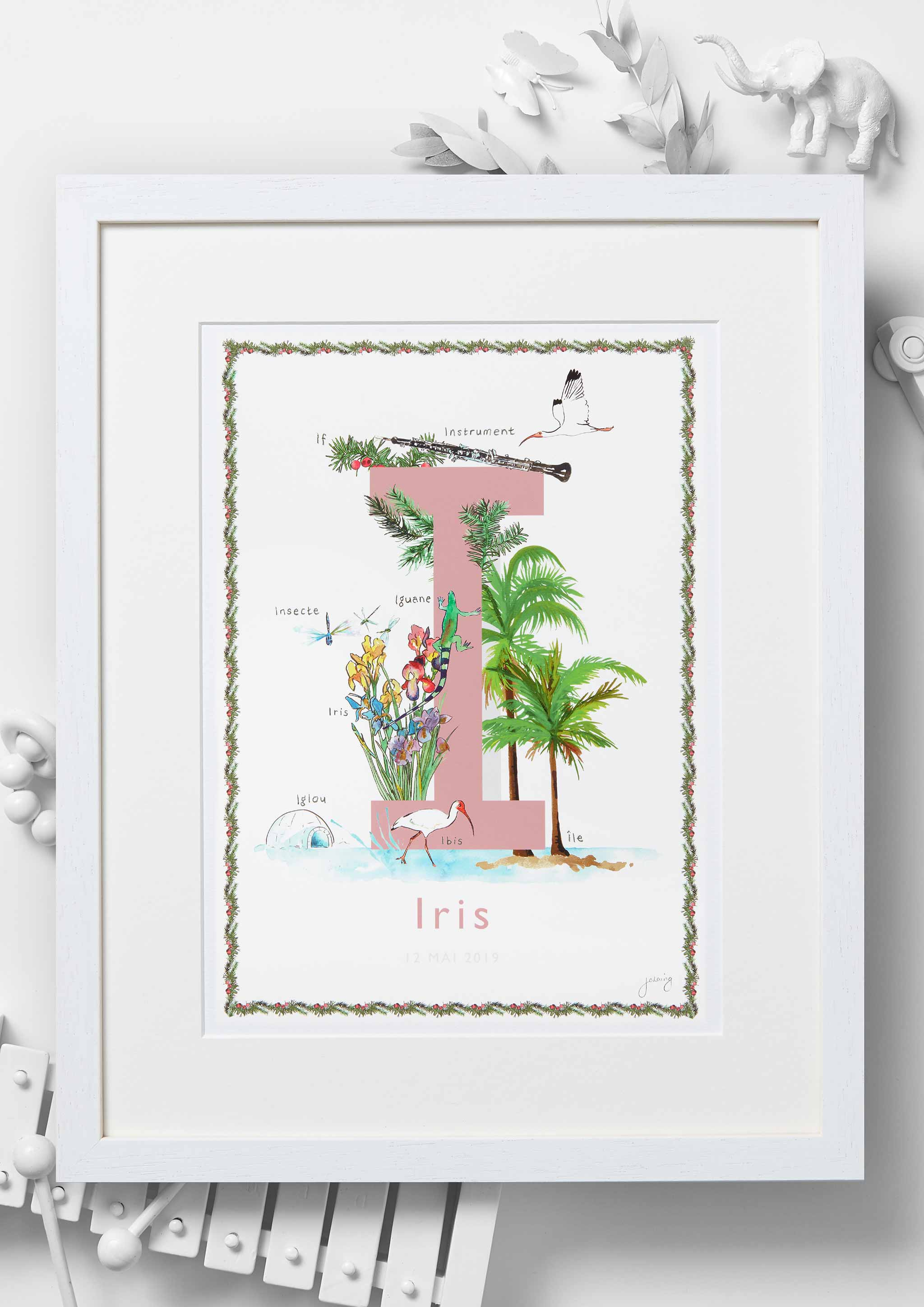 'I is For' Nursery Art Print - French Collection