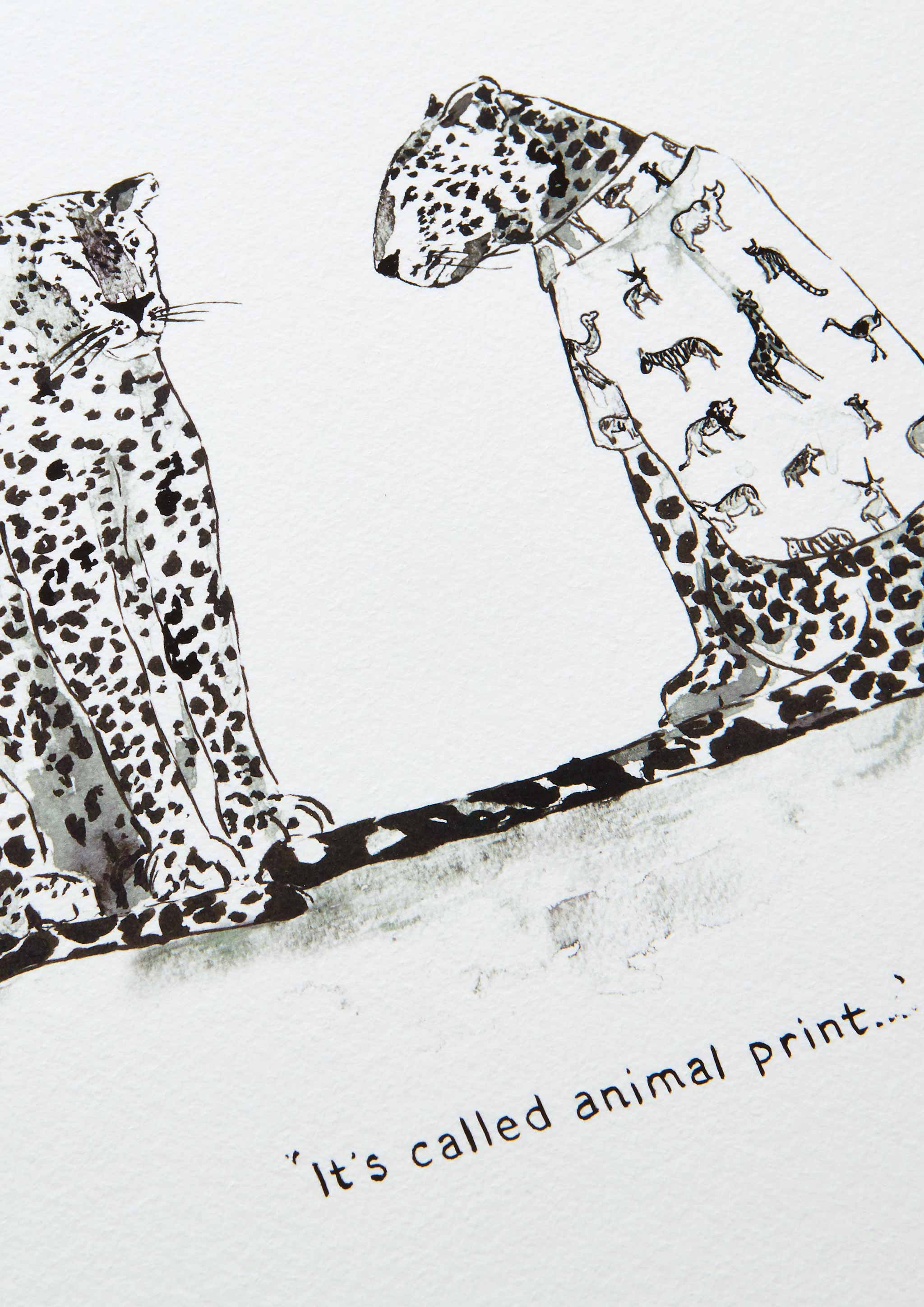 'Leopards in Vogue' Art Print
