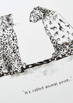 Leopards in Vogue Art Print