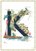 'K is For' Alphabet Nursery Art Print