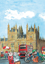 Big Hen and the Mouse of Parliament features original watercolour artwork of the iconic Palace of Westminster and Big Ben clocktower. Big Hen and the Mouse of Parliament features original watercolour artwork of the iconic Palace of Westminster and Big Ben clocktower.