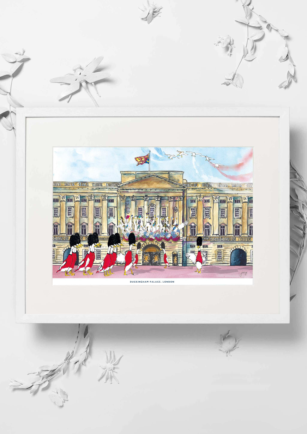Duckingham Palace Nursery Art Print