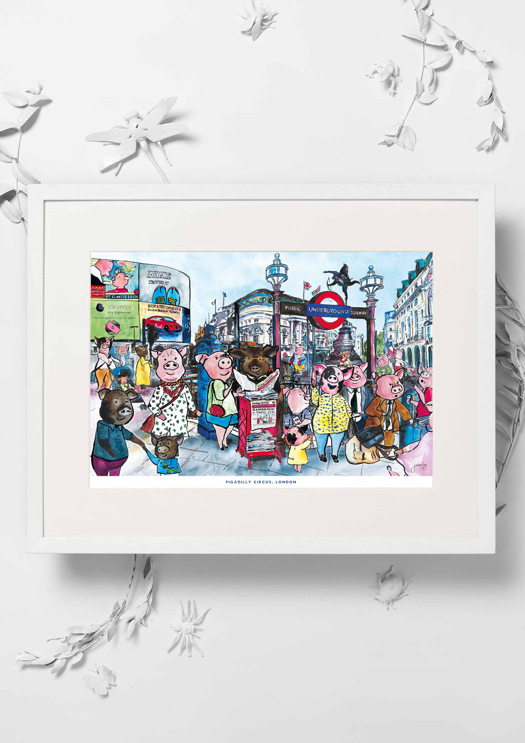 Pigadilly Circus Nursery Art Print