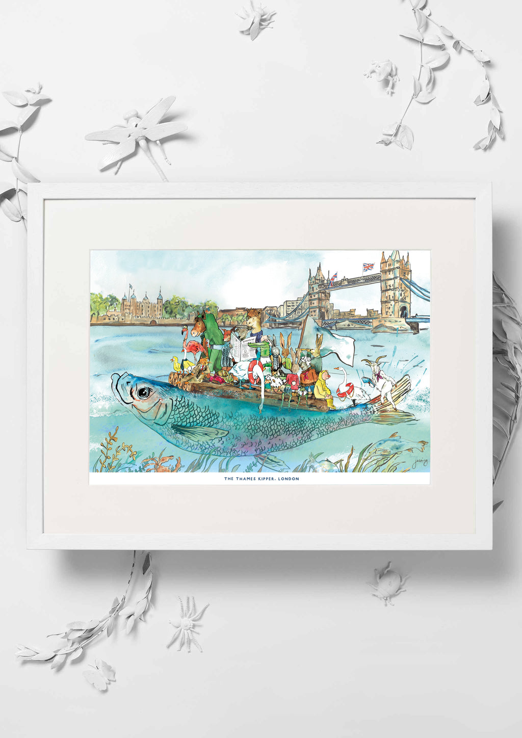 The Thames Kipper Nursery Art Print