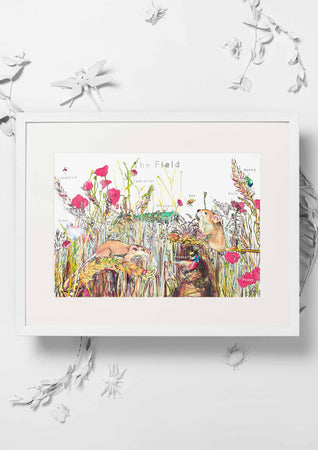 Jo Laing - Giclée Fine Art Print - The Field Nursery Art Print