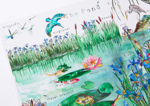 The Pond Nursery Art Print