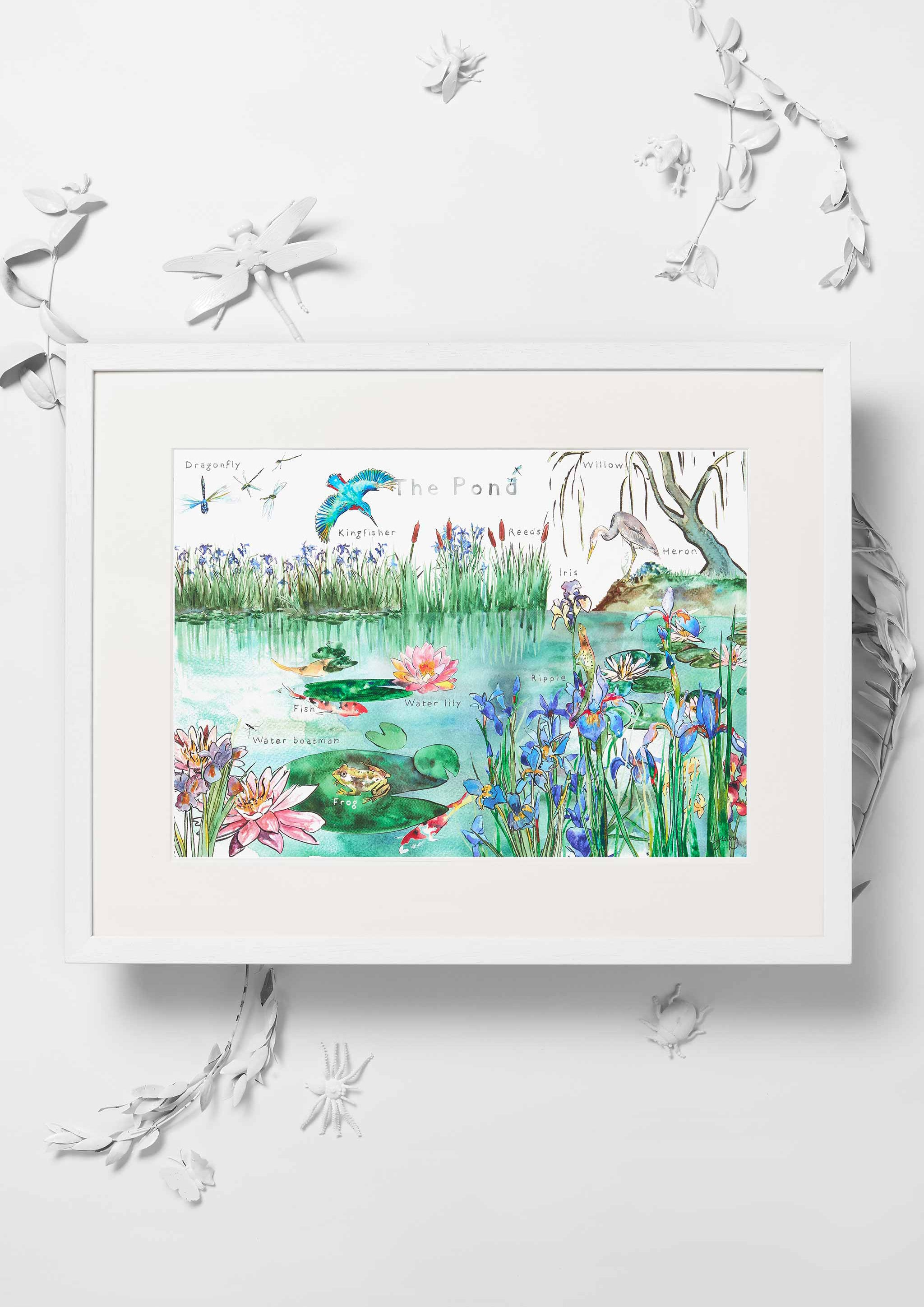 Jo Laing - Giclée Fine Art Print - The Pond Nursery Art Print