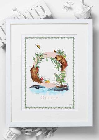 'O is For' Nursery Art Print - French Collection