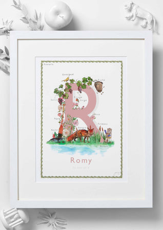 'R is For' Nursery Art Print - French Collection