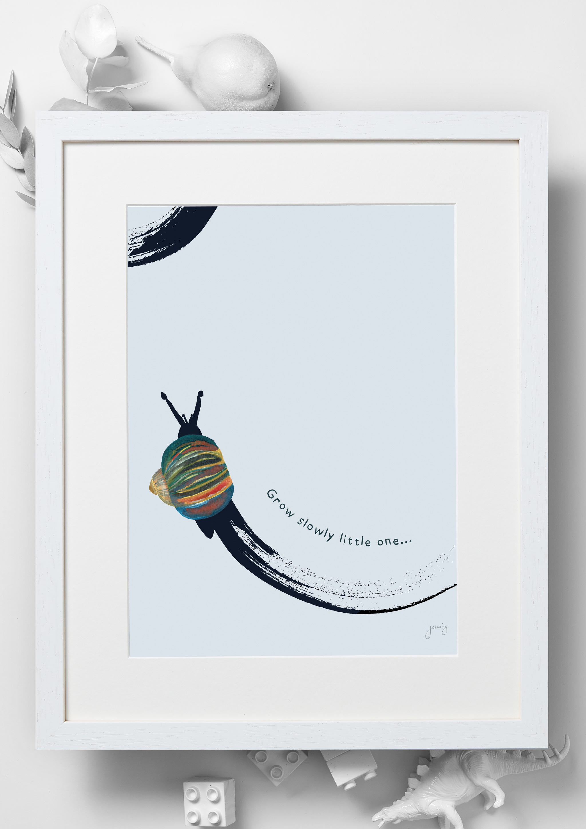 'Grow Slowly Little One' Nursery Art Print