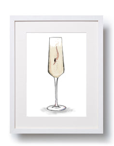 Make a Splash Champagne Art Print