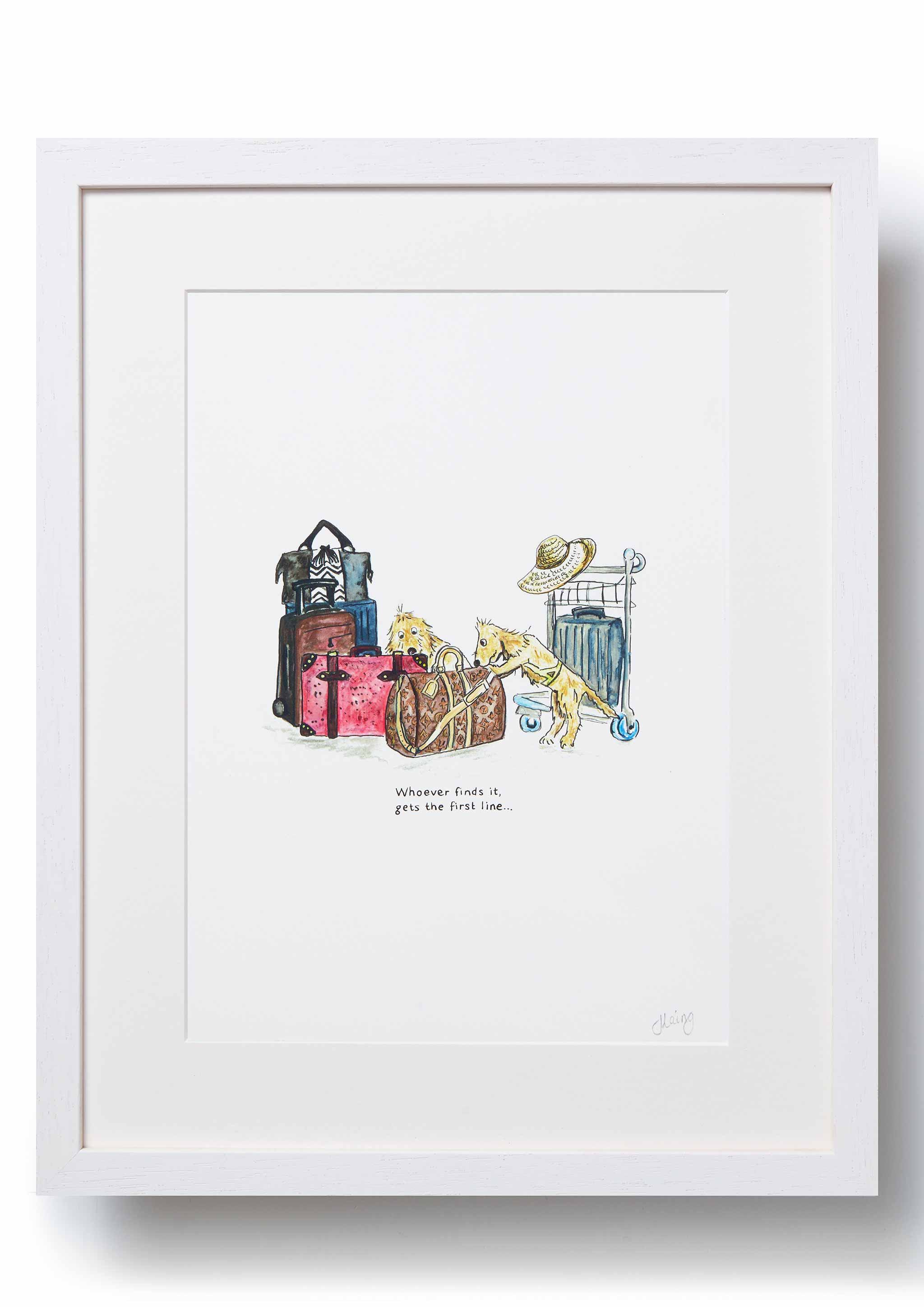 'Overheard at Heathrow' Art Print