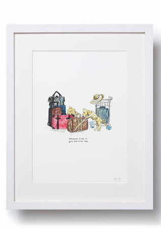 Jo Laing - Giclée Fine Art Print - Overheard at Heathrow