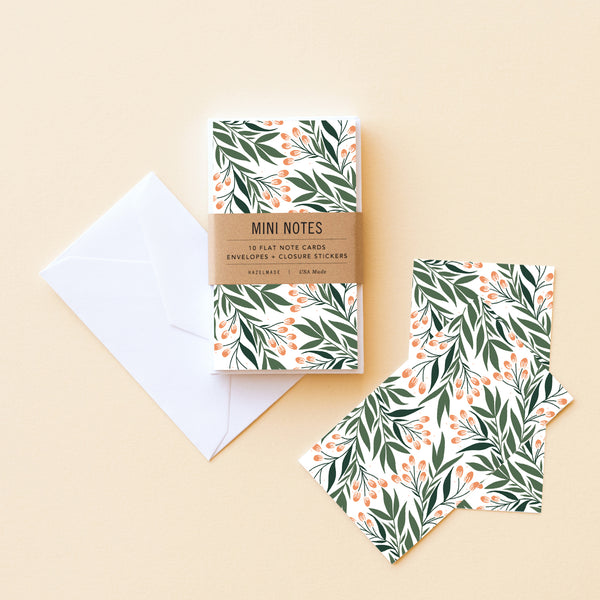 Branch + Florals Little Note Set