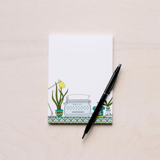 Typewriter + Desk Small Notepad (R) 1