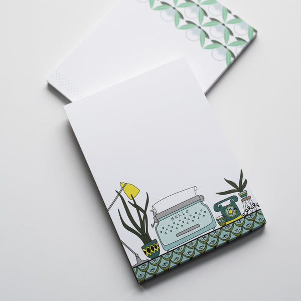 Typewriter + Desk Small Notepad