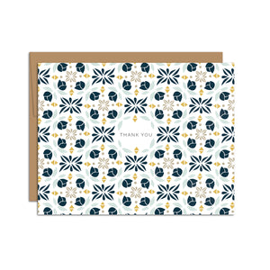 """Thank You"" Vintage Pattern Card (R)"
