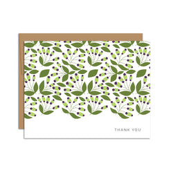 Thank You (Green Leaf Pattern)