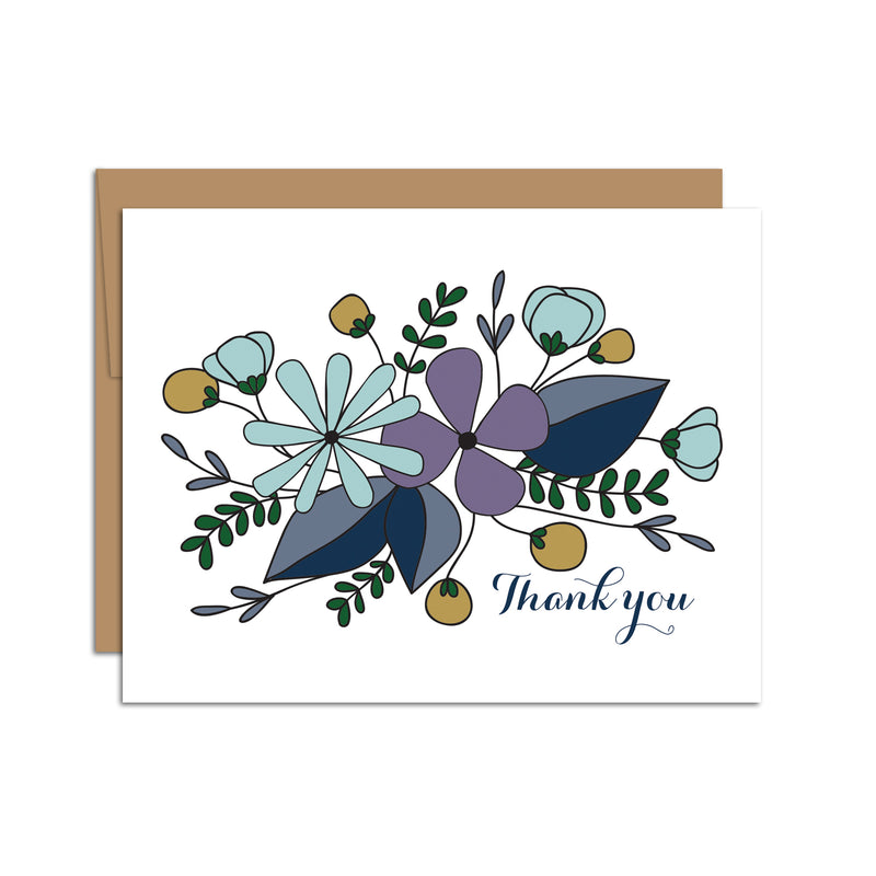 Thank You (Purple Florals)