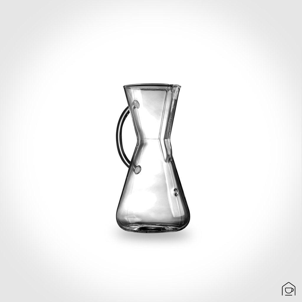 Glass Handle 3 Cup Coffee Maker