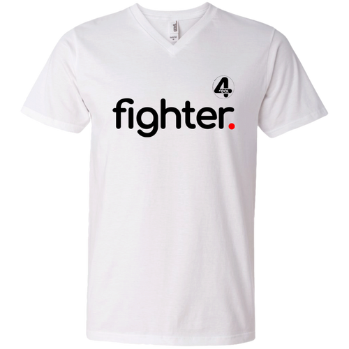 4REAL Fighter 2018 V-Neck T-Shirt