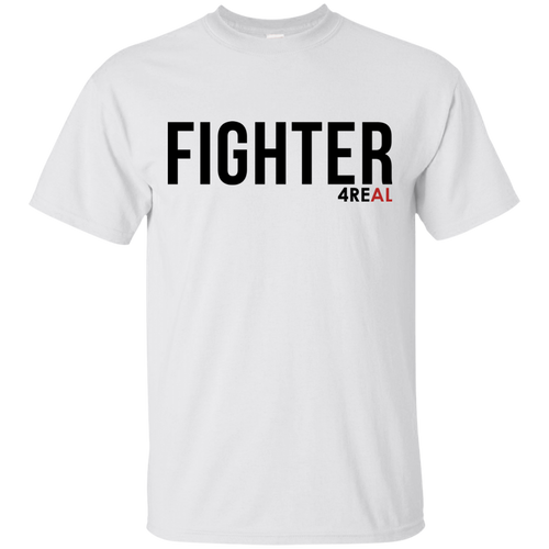FIGHTER White T-Shirt - 4REAL