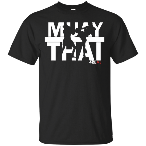 4REAL MUAY THAI Black T-Shirt - 4REAL